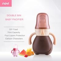 Ncvi 70ミリリットル大容量おしゃぶり高品質食品トレーニング赤ちゃんおしゃぶり幼児送りおしゃぶり赤ちゃん男の子と女の子XB9019