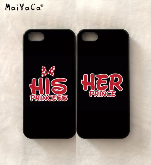 Prince and princess iphone case