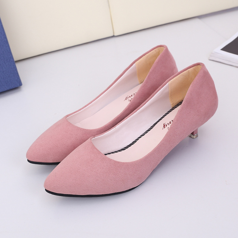 2018 Shoes Women New Fashion Style Women Pumps Ladies Sexy High Heels Wedding Work Shoes Women PU Leather Low Heel Party Shoes