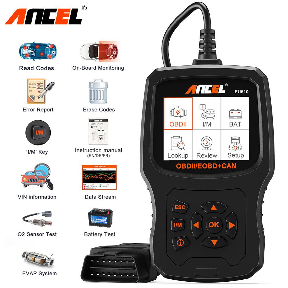 ANCEL EU510 OBD2 Scanner Automotive Diagnostic Tool für Renault Citroen Peugeot Opel VW Auto Batterie Tester Code Reader OBD2 Auto