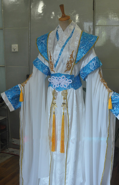 Lie Yun Blue White Black Silver Male Female Cosplay Costume Hanfu for Stage Performance or Photography