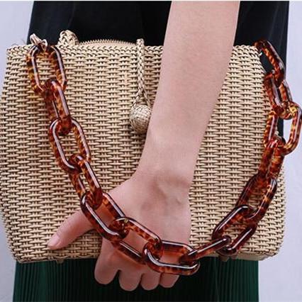 5 Pcs Per Lot Resin Chain Big Ring Fashin Resin Bag Strap Plastic Bag Handle Hanger DIY Accessories Acrylic Chain Bag Strap