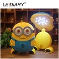 LEDIARY Funny Minions LED USB Rechargeable Desk Lamp Weak/Strong Light Fold Flexible Length Table/Reading Light for Student