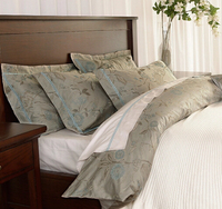 European luxury flower bedding sets adult,4pc full queen king vintage jacquard home textiles bedsheet pillow case duvet cover