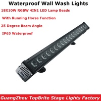 18X10W RGBW 4IN1 LED Wall Wash Lights Waterproof DMX LED Bar DMX Line Bar Wash Wall Lights IP65 With Running Horse Functions