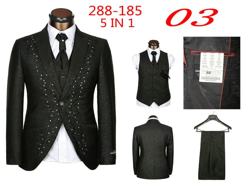 New 2015 Brand Men Suits Fashion Wedding Suits For Men 5 Piece Set ... f8c0f02a9bae