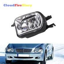 цена на CloudFireGlory For Mercedes Benz W203 C-Class C320 C240 C230 C350 Front Left Bumper Fog Light Lamp Foglight No Bulb 2038201756