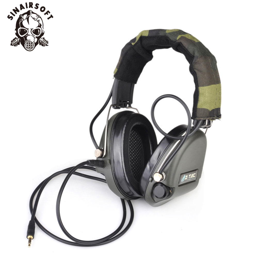 SINAIRSOFT Z 037 Tactical SORDIN Headset VER IPSC Military Hunting Noise Reduction Earphone Hunting Noise Reduction Headphones рулевая колонка fsa orbit z 1 5 reduction blck