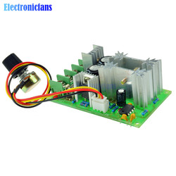 Universal DC10-60V DC Motor Speed Regulator PWM Motor Speed Controller Switch 20A Current Regulator High Power Drive Module