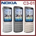 Nokia c3-01 desbloqueado c3-01 teléfono celular original gprs wifi bluetooth 5mp 3g red ruso/árabe teclado del teléfono del envío libre