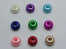 100 разноцветные акриловые искусственные жемчужины с большим