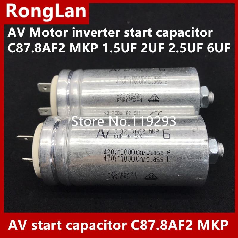 [BELLA] [nouvelle D'origine] Arcotronics AV Moteur onduleur condensateur de démarrage C87.8AF2 MKP 1.5 UF 2 UF 2.5 UF 6 UF 5% 500 v