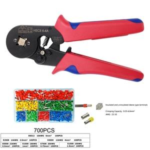 Image 1 - Обжимные плоскогубцы для проволочных наконечников, наконечники 0,25 мм2 23 10AWG электрик мини ручной круглый носовой инструмент клеммы