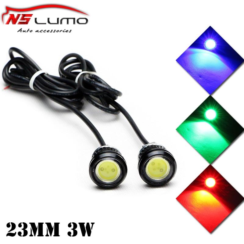 Free shipping High power eagle eyes 6W Waterproof Eagle Eye LED Daytime Running lights/Fog Lamps DC 12V Brake lights Tail Light
