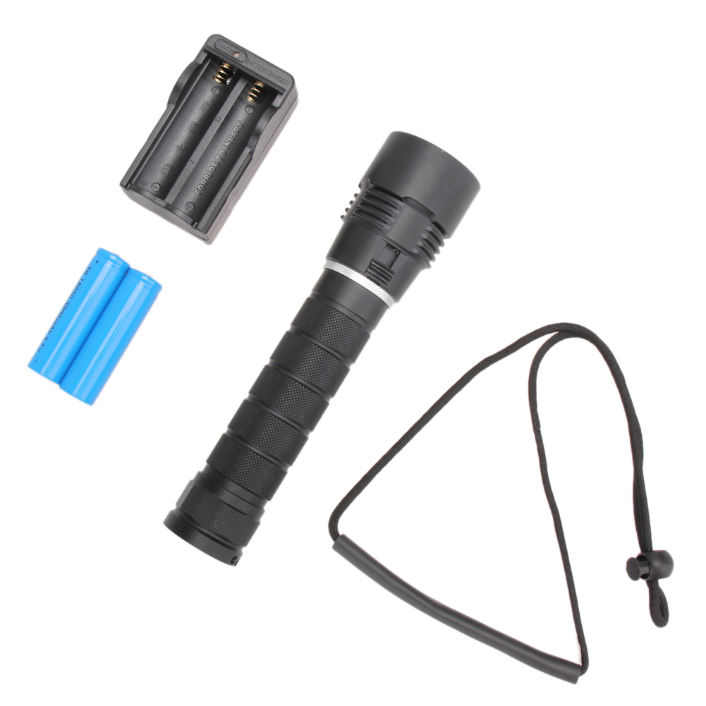 High Quality Waterproof 8000LM CREE 3* XM-L2 LED Flashlight Torch Zoomable Lamp Light+ 2x Rechargeable 18650 Battery+Charger cree xm l2 flashlight 5000lm adjustable zoomable led xm l2 flashlight lamp light torch lantern rechargeable 18650 2chargers z30