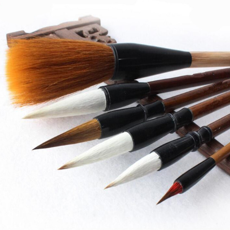 7 pcs/set Chinese Painting brushes Pen for Calligraphy Art Supply with pen holder