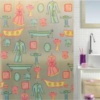 1PC PEVA Shower Curtain Cartton Waterproof Rideau De Douche Modern Bath Curtain With 12hooks Free 180*180cm