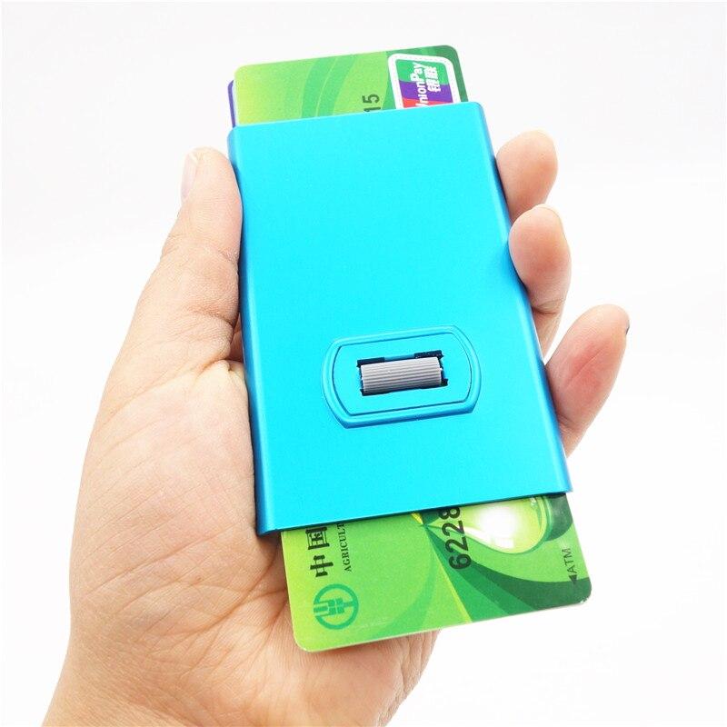 Artmi Kreditkorthållare med Spining Button RFID Aluminum Stilig Card - Plånböcker - Foto 2