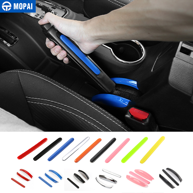 MOPAI ABS Car Handbrake Decoration Cover Interior Hand Brake Decoration Stickers For Jeep Wrangler JK 2011 Up Car Accessories