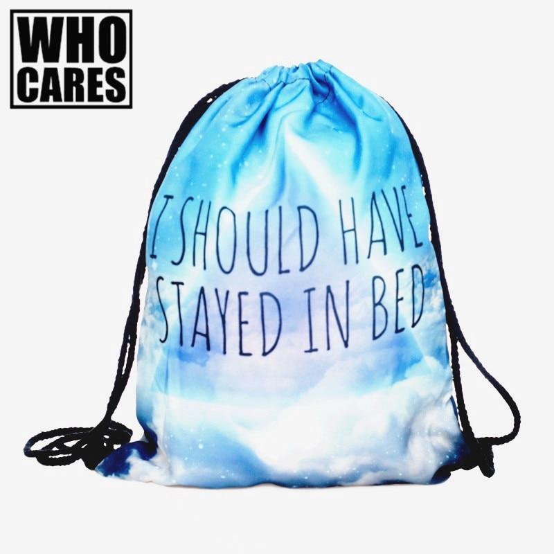 Bed 3D Printing mini backpack women school bag 2017 fashion backpacks kanken bookbag computer mochila drawstring bag back pack
