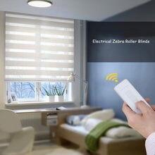 Persianas eléctricas cebra para oficina y hogar, persianas inteligentes personalizadas, Compatible con Alexa y Google a través de Broadlink