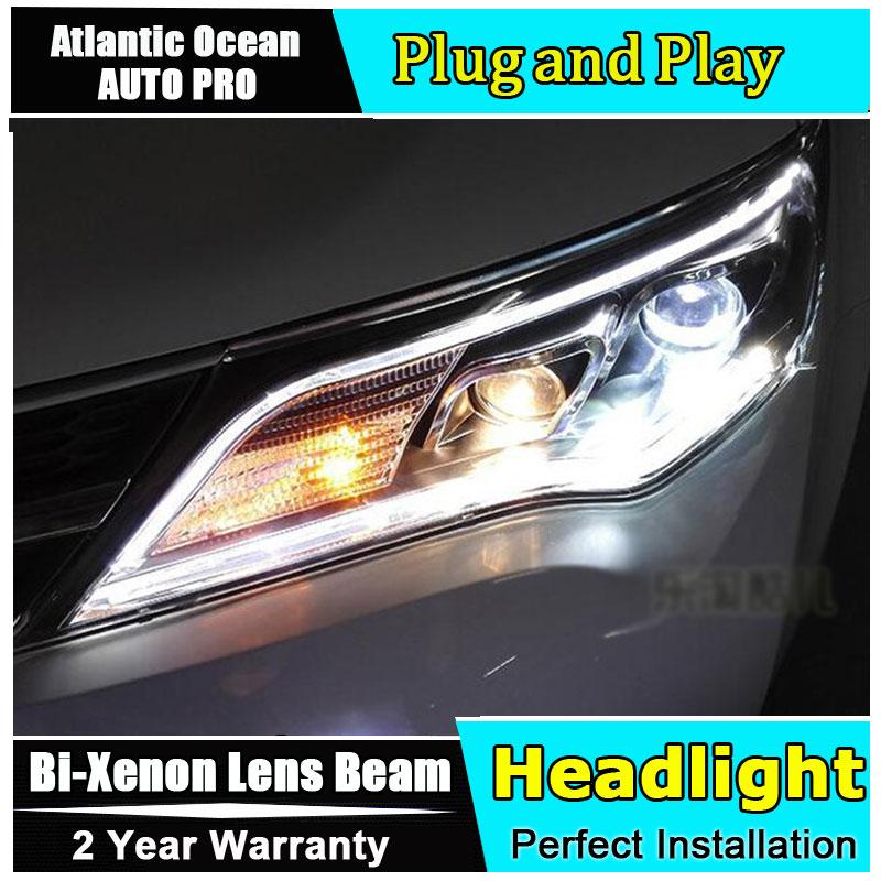 AUTO.PRO For 2013-2015 toyota RAV4 xenon headlights car styling bi xenon lens for RAV4 LED head lamps xenon H7 light