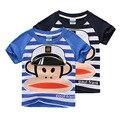 Verão de marca crianças crianças macaco dos desenhos animados manga curta Tops de algodão t-shirt Tee