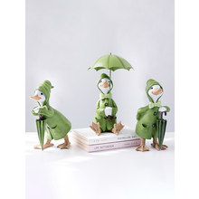 Europe Cute Animal Resin duck Miniatures Figurine Craft Bonsai fairy Garden Home wedding Decor tabletop Furnishing articles