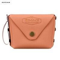 Mance women crossbody bags for Girl Student Macaron Bow Serie Fashion Change Purse crossbody bags Leather bolsa feminina