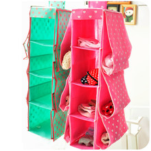 Free shipping 3 color 4 layers big non-woven storage bag multi-layer wall hanging home underwear bra toy organizer
