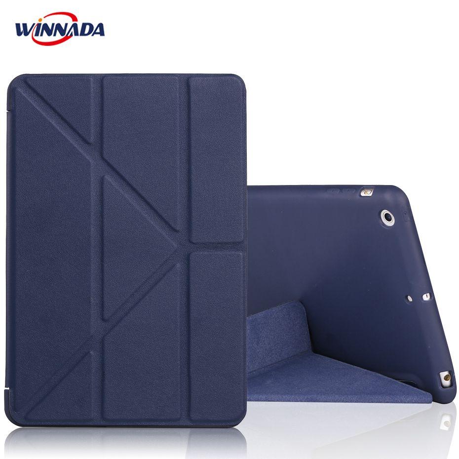 For ipad mini 1 2 3 case TPU Silicone Soft Back cover + PU leather Auto Sleep Wake UP Smart stand table case for ipad mini 123