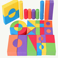 Hot 50 Unids Kids Safe Creative EVA Suave Color Brillante Bloques de Construcción de espuma Niños Regalos Bebé Temprano Educativo Clásico Cubo juguetes