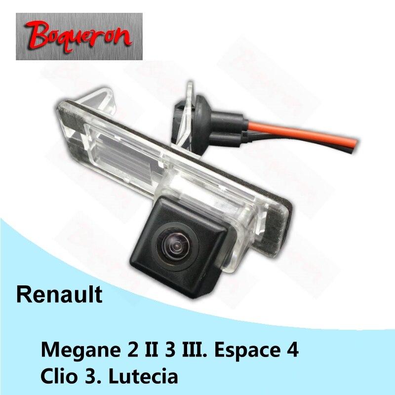 Pour Renault Megane 2 II 3 III Espace 4 Clio 3 Lutecia Vue Arrière de voiture Caméra HD CCD de Vision Nocturne De Sauvegarde Inverse Parking Caméra