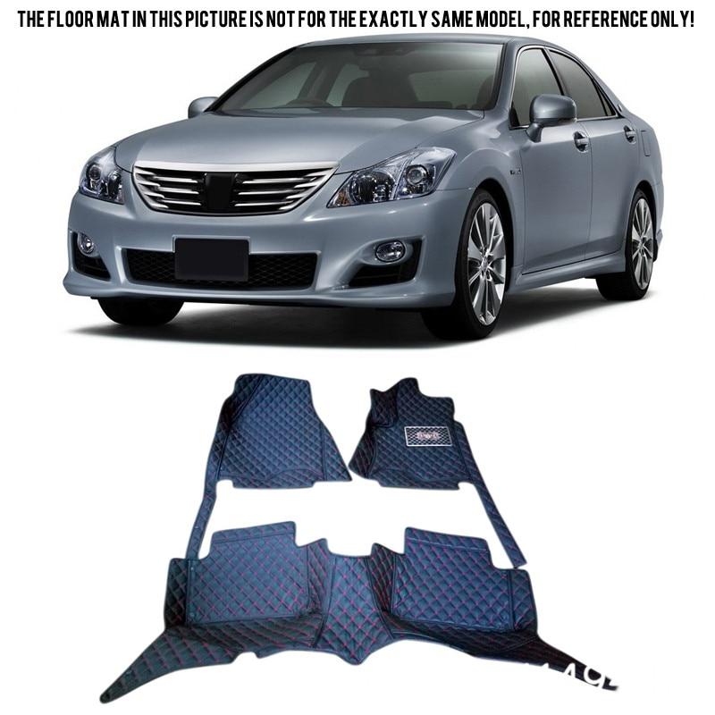все цены на For Toyota Crown 2004 2005 2006 2007 Interior 6 Colors Leather Custom Car Styling Front & Rear Floor Mats Carpets Accessories онлайн