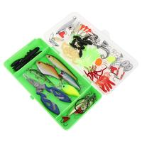 Full Lures Set Complete Spinner Minnow Popper VIB Soft Hard Spoon Crank Baits Fishing Hooks Fishing Tackle Box 101pcs/Lot