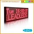 """Leadleds 30 """" x 11 """" Red multi-linha Usb programável mensagem de rolagem levou exibição"""
