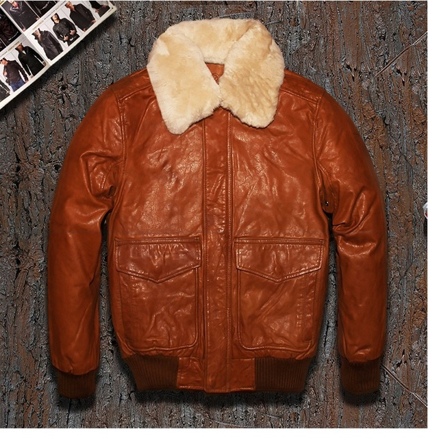 Free Shipping.fashion Brand winter warm leather jacket.plus Size motorcycle jackets,mens genuine cow leather coat.wool