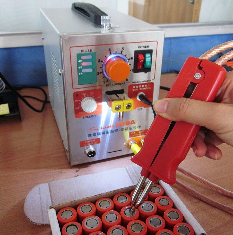 SUNKKO 1.9kw LED Pulse Battery Spot Welder ,709a, Spot Welding Machine for 18650 battery pack, Spot welding  220V EU,110V US new 1 9kw battery spot welder welding machine for notebook mobile phone 18650 16340 14500 battery pack 110v 220v