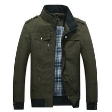 2018 Mens New Casual Thick Jacket Multi-pocket Mandarin Collar Men Coat Comfortable Jackets MWJ1722