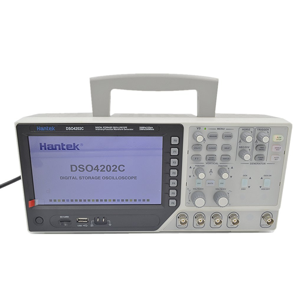 Hantek Dso4202c 2 Channel Digital Oscilloscope 1 Storage Adapter Arbitrary Function Waveform Generator 200mhz 40k 1gs S