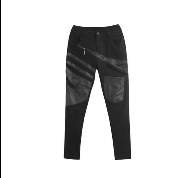 Harem Casuales Negro 2019 Unidos Mujer Cuero Otoño Elástica Hechizo De Delgada Nuevos Pantalones Primavera Los Y Europa Pies Estados wIqpU6I
