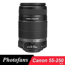 Canon camera lens 55-250mm f/4-5.6 EF-S EST II Stabilisateur D'image Lentilles pour Canon 650D 700D 60D 7D Rebel T3i T4i T5i Caméra Lente