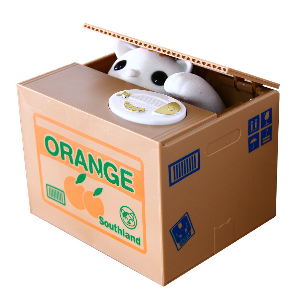 Funny pictures 141 clear desk policy - Mischief Saving Box Little Cat Steal Money Toy Funny Animals Cat Automatic Electric Stole Coin Piggy