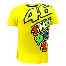 Moto GP Valentino Rossi VR46 Yellow 46 The Doctor T-Shirt Racing Sport Motor T shirt