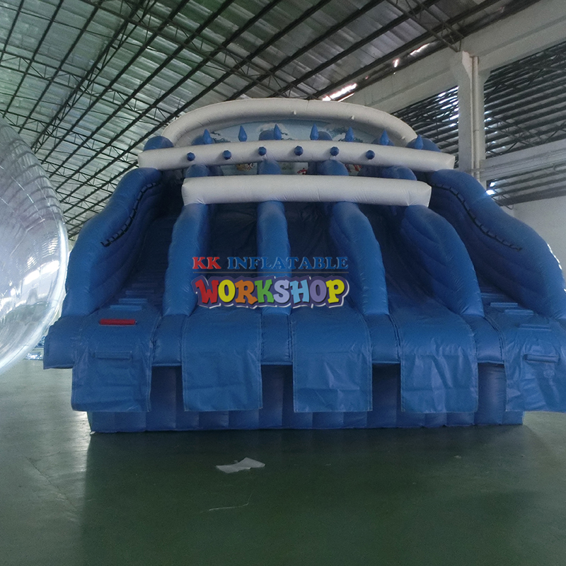 Large Inflatable Multi-channel Water Slide,inflatable Water Park