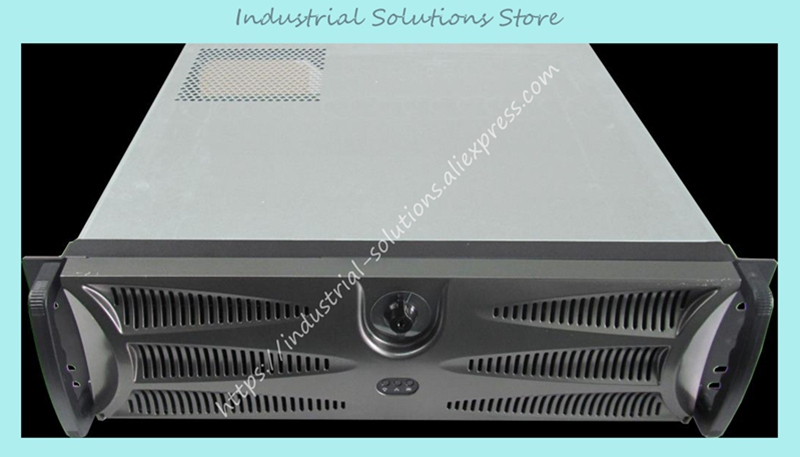 NEW plastic lock panel monitor Server Chassis Industrial Computer case 3U380MM new 4u industrial computer case parkson 4u server computer case huntkey baisheng s400 4u standard computer case
