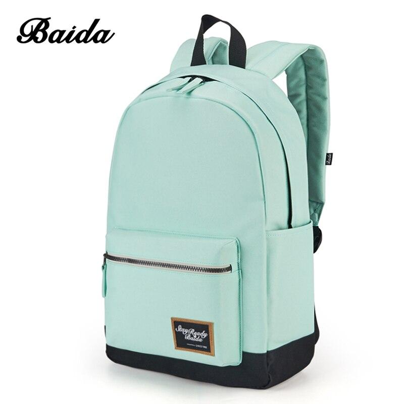 2018 mode sac à dos pour femmes loisirs voyage sacs à dos sac à dos pour filles adolescent contraste couleur sacoche pour ordinateur portable sacs d'école