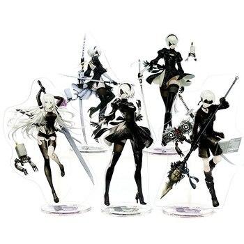NieR: Autômatos Anime Toy Figuras de Ação Toy Coleção de Alta Qualidade De Dupla Face de Plástico Brinquedos Modelo 21 cm