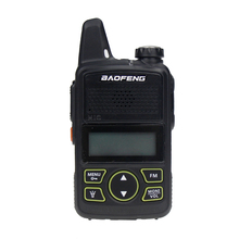 Baofeng BF T1 שתי דרך רדיו מיני נייד UHF 400 470MHz 20 ערוצים Ultra דק נהיגה מלון אזרחי מכשיר חובבי רדיו
