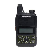 Baofeng BF T1 Zwei Weg Radio Mini Tragbare UHF 400 470MHz 20 Kanäle Ultra Dünne Fahren Hotel Zivilen Walkie talkie Ham Radio